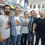 Cesar Alcázar, Artur vecchi (editor da AVEC) Fred Rubin e os sócios do Terra X